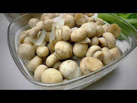 Маринованные ШАМПИНЬОНЫ, Самый вкусный и БЫСТРЫЙ рецепт грибов