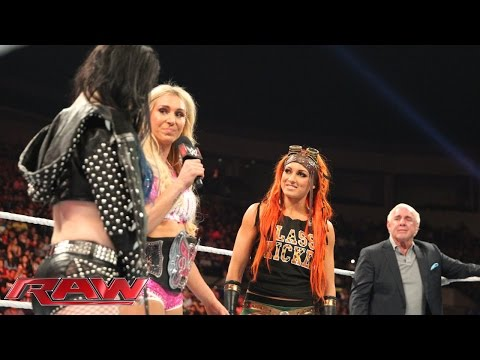 Paige spoils Charlotte's Divas Championship Celebration: Raw, Sept. 21, 2015