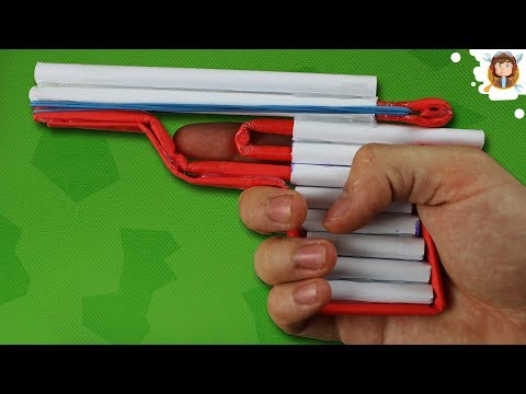 How to Make an Airsoft Gun - Paper Pistol...