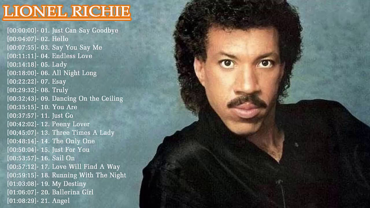 Lionel Richie Greatest Hits Best Of Lionel Richie Full Album Live 2017 L Lionel Richie Collection Youtube