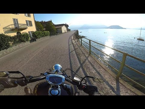 Riding around Lake Como #2, from Bellano to Lecco - Lombardy, Italy - road SP 72