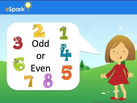 eSpark Learning: Odd and Even Numbers Framing Video (2.OA.3, Quest ...