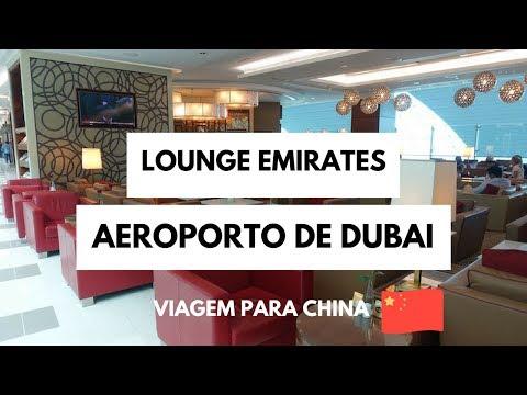 Viagem para China - Lounge Emirates/Aeroporto de Dubai