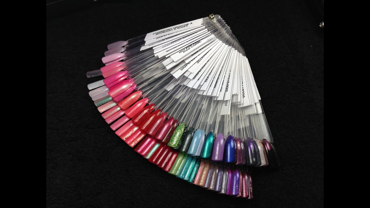 93 Shellac Nails Colour Chart 1 Wave Cat Eye Gel Uv Led Nail Display Color Wheel Polish The Ultimate Layering Video With Swatches