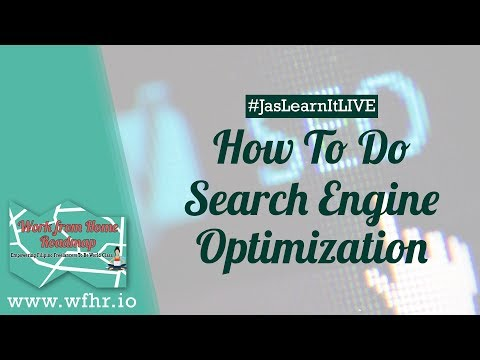 HOW TO DO SEARCH ENGINE OPTIMIZATION (SEO) AS A FREELANCER (LIVE) | JASLEARNIT 015