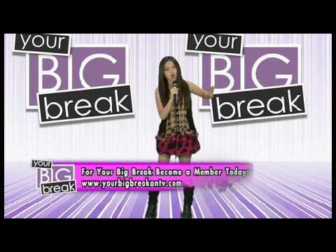 Singer Carly Peeters performing on Your Big Break on TV!