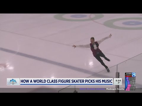 Olympic figure skater dances to his own tune