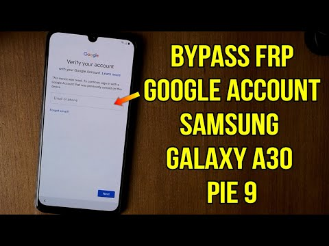 Bypass Frp Samsung Galaxy A30 Pie 9 without pc (google account protection U1)