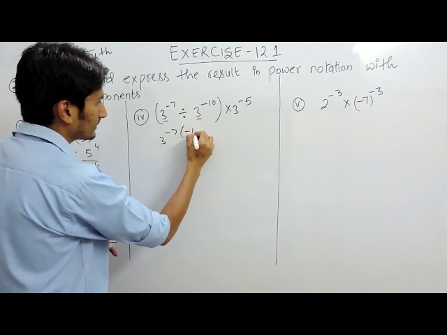 Exercise 12.1 - Question 2 (iii,iv,v) NCERT Solutions for Class 8th Maths Exponents and Powers