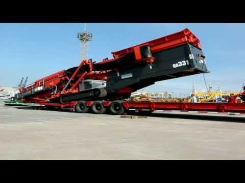 ขนส่งรถโม่หิน Sandvik QA331 28 ตัน แหลมฉบัง ใหญ่มว๊าก..