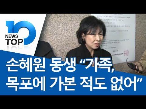 """손혜원 동생 """"가족, 목포에 가본 적도 없어"""""""