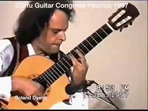 "Roland Dyens On The Corfu Guitar Congress Festival 1997- Transcription Of ""La Foule"""