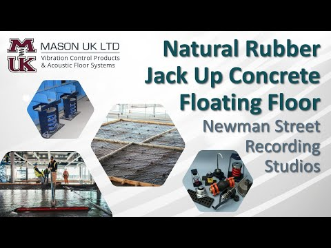 Concrete Floating Floor [Natural Rubber System]  | MASON UK LTD – Newman Street Recording Studios