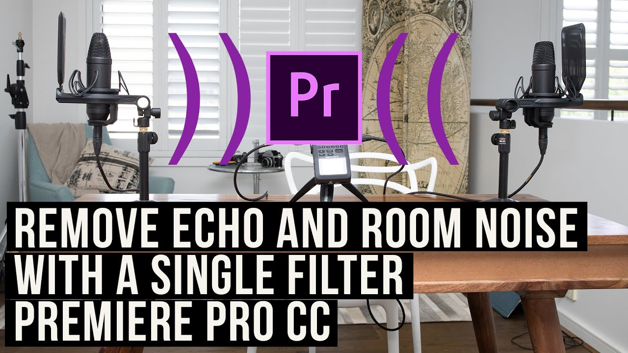 How To Remove Echo And Noise From A Second Microphone In Premiere Pro Cc 2020 Tutorial Youtube