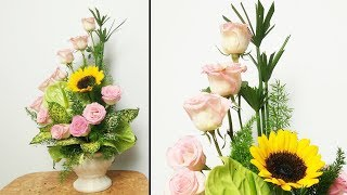 Flower Decoration Ideas|HOW TO Design PINK ROSE FLOWER Arrangement?35