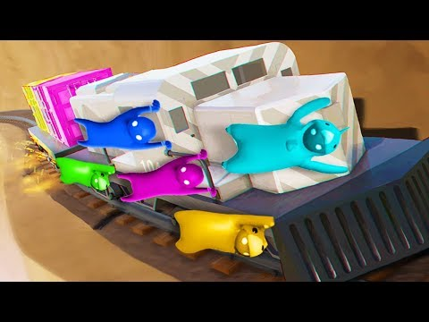DON'T LET GO OF THE 9,999 MPH TRAIN! (The Pals play Gang Beasts)