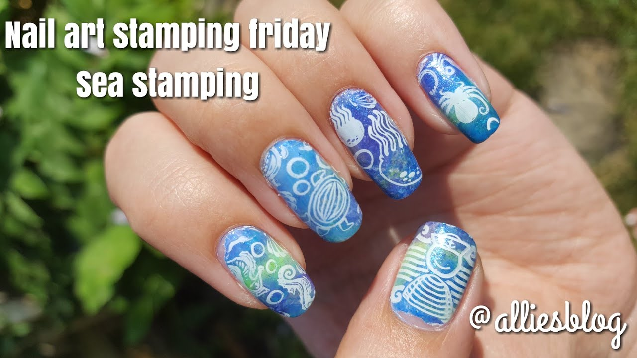 Nail Art Stamping Friday Harounta Sea Stamping Crayola Sally