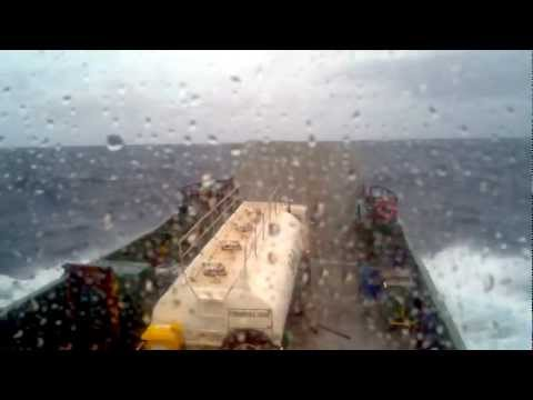 Barge in rough weather.3gp