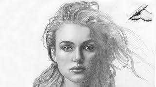 KEIRA KNIGHTLEY | ✎ PORTRAIT ZEICHNUNG | speed drawing how to draw a realistic face elizabeth swann