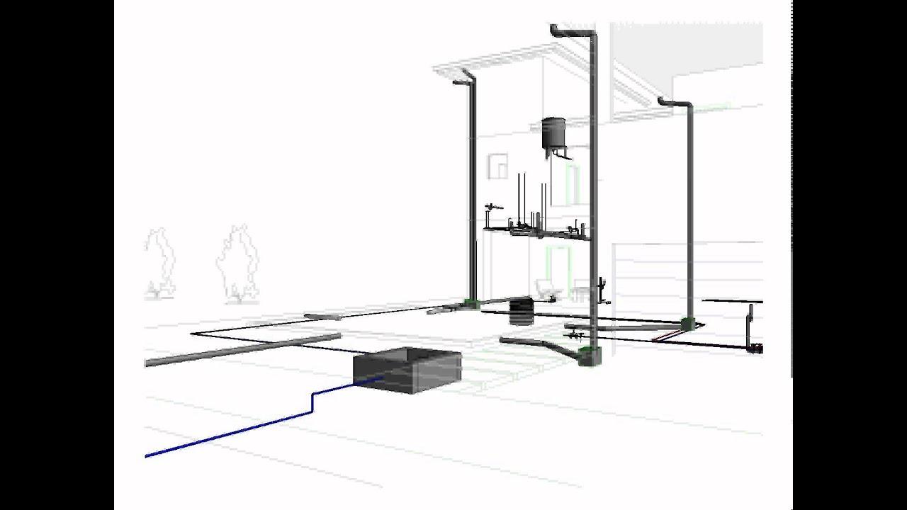 Animaci n de conjunto de instalaciones hidr ulicas por for Instalacion hidraulica de una alberca