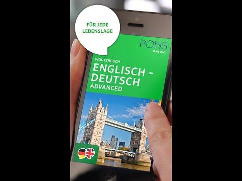 PONS Translator App Advanced English Deutsch