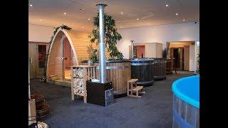 De showroom van Bastu Sauna's.