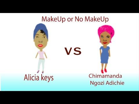 Alicia Keys Vs Chimamanda Ngozi Adichie in The MakeUp Debate