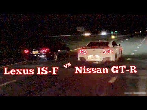 Nissan GT-R vs Lexus IS-F Drag Race!!