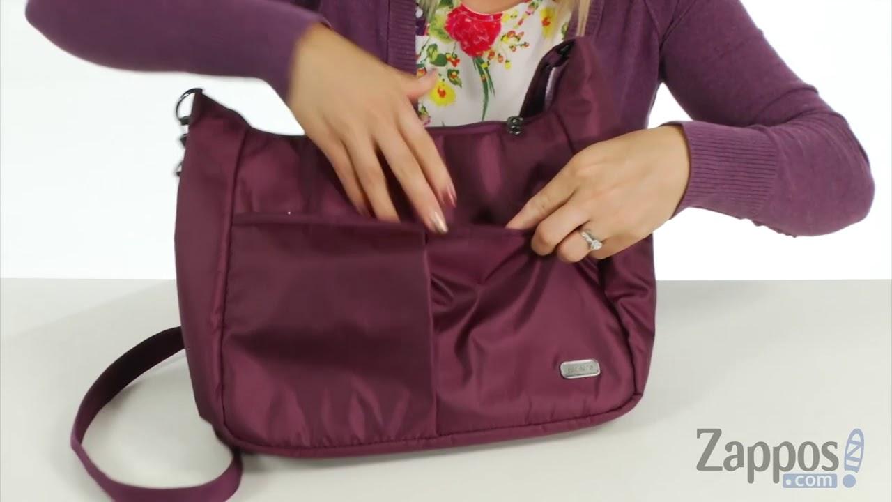 945b04152c Pacsafe Daysafe Anti-Theft Crossbody Bag SKU  9034215 - YouTube