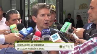Gobernador de Antioquia firme en la lucha por Belén de Bajirá