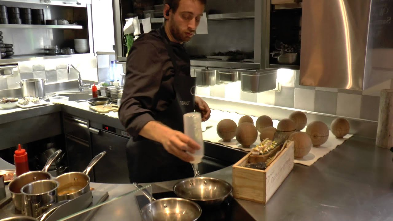 Busy Restaurant Kitchen busy kitchen at the michelin star awarded restaurant likoké in