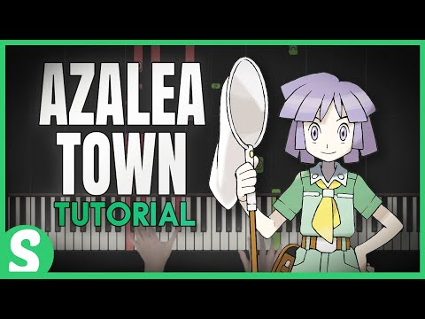 """How to Play """"AZALEA TOWN"""" from Pokemon Gold, Silver, Crystal (Synthesia) [Piano Tutorial] [HD]"""