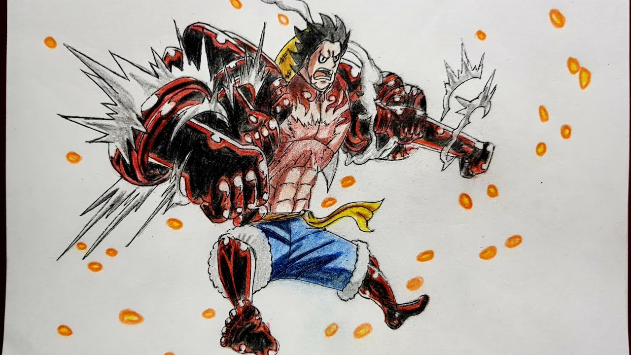 Anime one piece action figure monkey d luffy gear 4 snake man luffy fighting form bounce snakeman. Drawing Luffy Gear 4 Bounce Man - One Piece - Speed ...