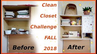 Clean Closet Challenge Fall 2018 before and after