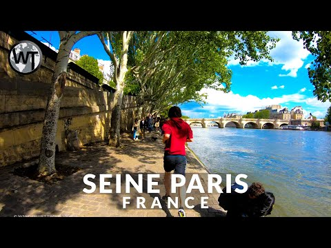 Seine River Banks Paris Walking Tour〚𝟒𝐊〛🇫🇷 France