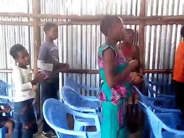 Children Signing to Jesus WFF Kibera Slum 4 1 2018
