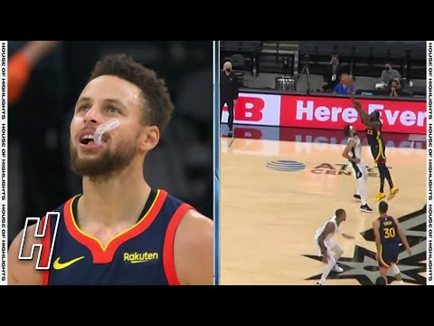 Draymond Green Worst 3-Point Attempt, Steph Curry Can't Believe It vs Spurs   February 8, 2021
