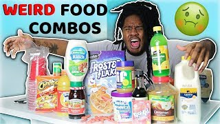 Trying WEIRD Food COMBINATIONS  People LOVE!! (never again)