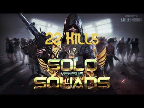 22 Kill Solo v Squad Dinner // Easy killsss// Emulator Player