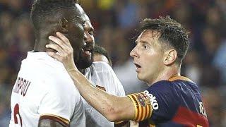 ШОК! ПОЛНАЯ ДРАКА МЕССИ И МБИВА. 05.08.15. Leo Messi vs Mapou Yanga Mbiwa. НЕ КРАСИВЫЙ ФУТБОЛ