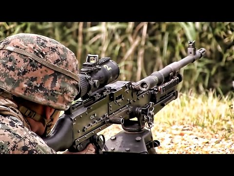 U.S. Marines Live Fire Exercise • Training For Deployment