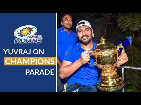 Yuvraj Singh reacts to the Champions Parade | Mumbai Indians