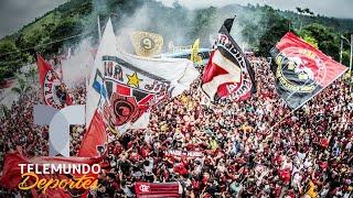 Hinchas de Flamengo viven su fiesta en Lima antes de la Final | Telemundo Deportes