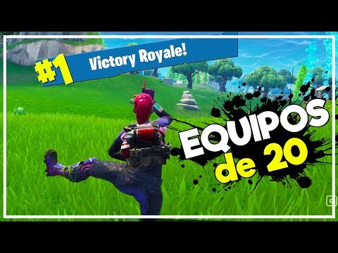 Fortnite | EQUIPOS DE 20!?