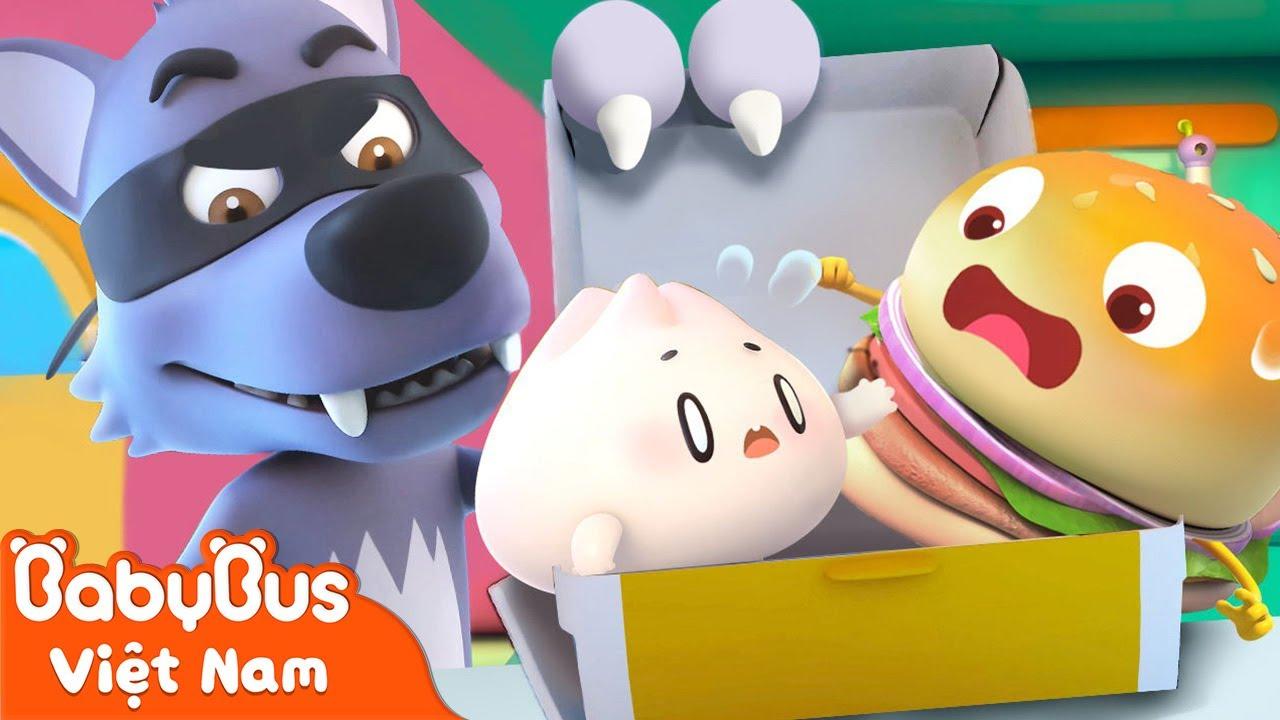 Cuộc chiến với sói xám | Hamburger và những người bạn | Hoạt hình thiếu nhi vui nhộn | BabyBus