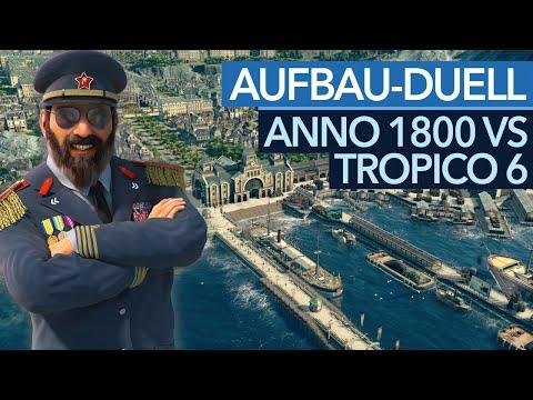 Anno 1800 gegen Tropico 6 - Was unterscheidet die Aufbauspiele?