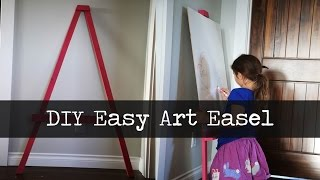 Easy Leaning Art Easel Project