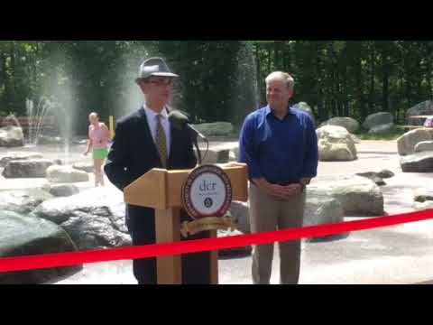 Belmont Selectman Adam Dash At The Opening Of Beaver Brook Reservation