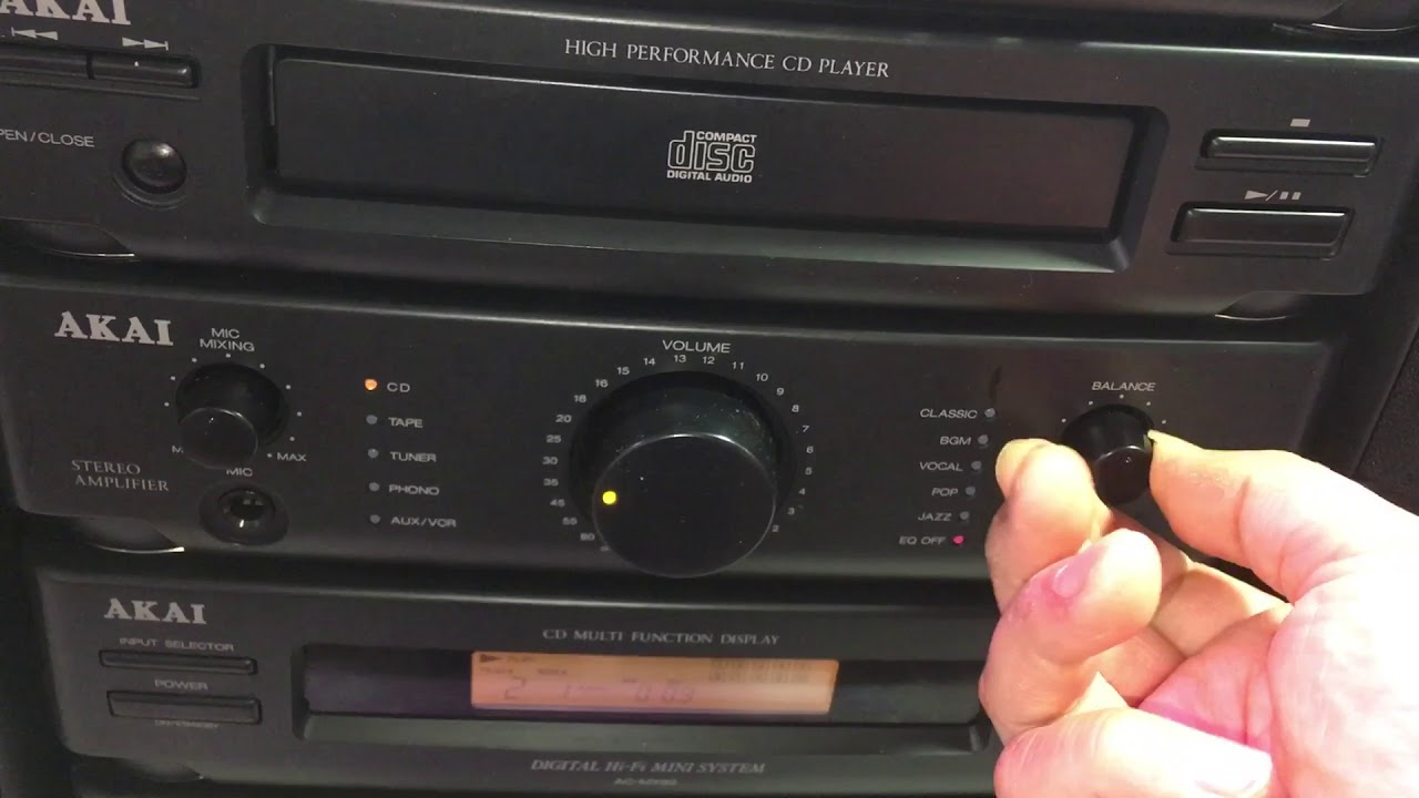 Akai Ac-mx92 Cd Radio Double Cassette Stereo System