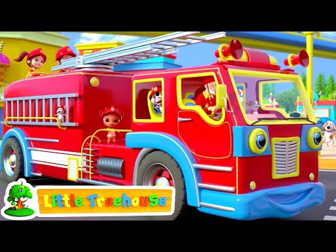 Fire Truck Song | Wheels on the Bus & More Kids Rhymes by Little Treehouse